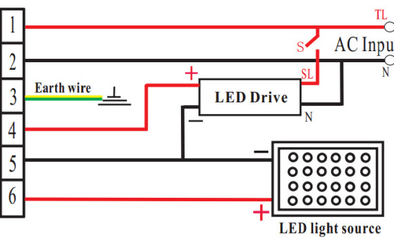 LED应急电源接线图降功率盒装