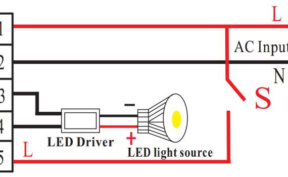 LED应急电源接线图168H 168N