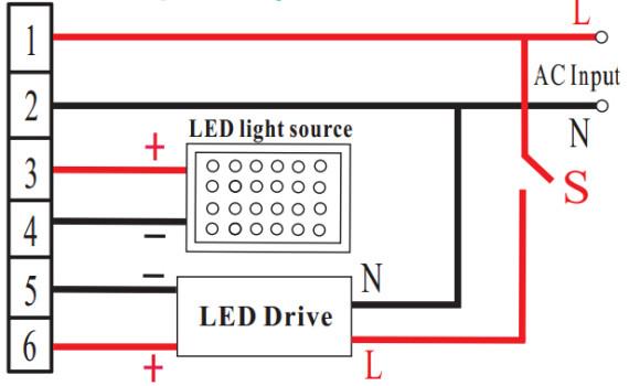 LED应急电源接线图168T
